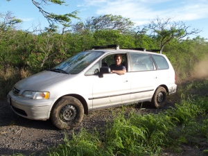 Simon insists that our Honda Odyssey can offroad with the best of them.  It proved itself yet again on the gravel access to Nu'u Bay today