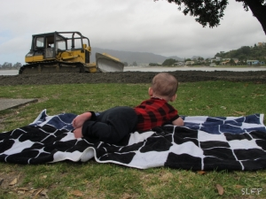 Adventures come in all shapes and sizes. This bulldozer kept Joey entertained for an entire picnic lunch and then some