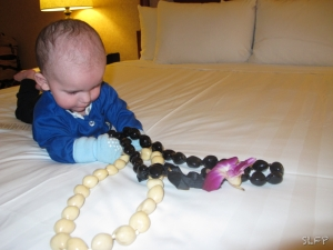 Hotels are fun for babies, especially when they come with kukui nuts