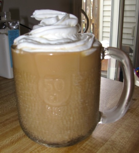 Better than Sbux Iced Coffee. Bonus- served in a chilled beer mug