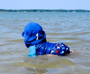Reusable swim diaper - saves money, easy to use, and super cute!