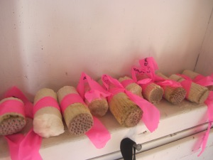 Coral cores, labeled and ready to be shipped to the lab