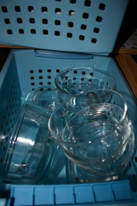 an assortment of washable food storage containers