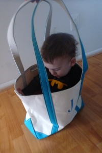 Joey also fits into his daycare bag very well