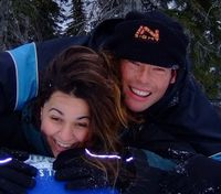 Lauren & Simon in Big White, Canada, early 2008