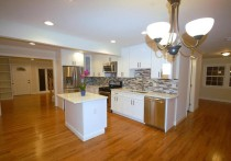 Our open floor plan and dream kitchen - two big items on our list when we started house hunting.