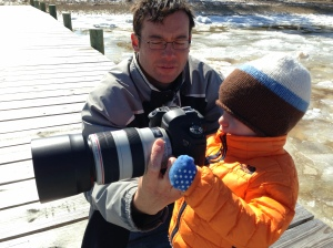 Joey is developing his camera skills from an early age