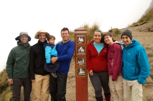 Our group at the highest point - Dead Woman Pass