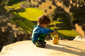 Joey also brought Pikachu to Machu Picchu
