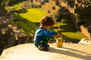 Joey also brought Pikachu to Machu Picchu