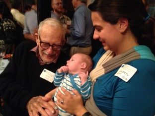 Blake meets the father of oceanography, Walter Munk