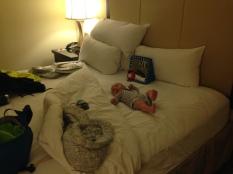 Blake enjoys fancy hotels