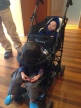 Our double stroller seems small at home, but was huge in Japan.