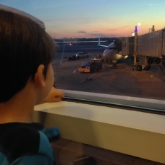 Joey awaits group 3 boarding for flight 1111 DCA-ORD at 0530!