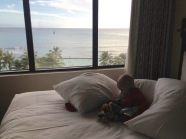 Blake scored us an upgrade to the oceanfront suite at the Waikiki Marriott - an unexpected perk along the way!