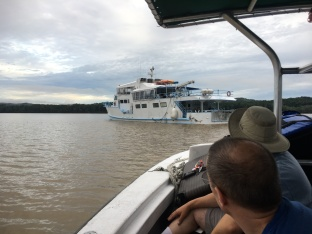 The Yemaya, on a Panamanian river