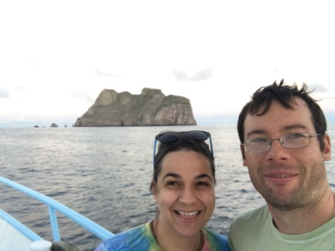 Our first sight of Malpelo.